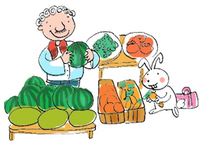 خرگوش و خرید میوه